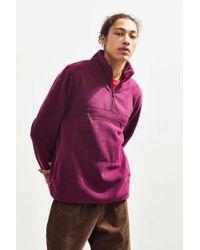 Stussy - Polar Fleece Mock Neck Pullover Sweatshirt - Lyst