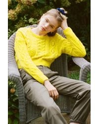 Urban Outfitters - Uo Bright Lights Cable Knit Cropped Jumper - Lyst