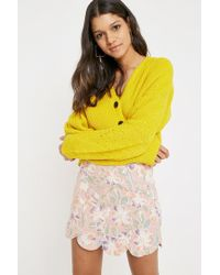 Urban Outfitters   Uo Tulip Linen Skirt   Lyst