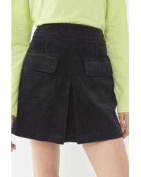 6b83f1e32f BDG Checkered Denim Zip Mini Skirt in Black - Lyst