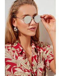 Urban Outfitters - Harper Metal Round Sunglasses - Lyst