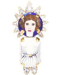 Bijoux De Famille - Leila Crown Brooch - Lyst