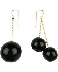 Marion Vidal | Black Bauble Earrings | Lyst