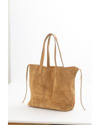 Velvet By Graham & Spencer - Tricia Suede Leather Tie Tote - Lyst