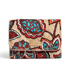 Vera Bradley - Iconic Rfid Riley Compact Wallet - Lyst