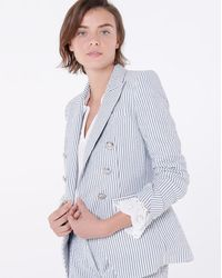 Veronica Beard Miller Dickey Jacket - Gray