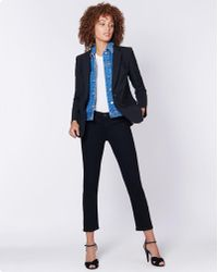 Veronica Beard - Classic Dickey Jacket With Slate Dickey - Lyst