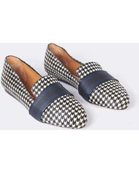 9b92b4492c4 Lyst - Veronica Beard Griffin Loafer With Crest Patch in Black