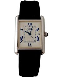 Cartier - Pre-owned Vintage Tank Must White Silver Watches - Lyst