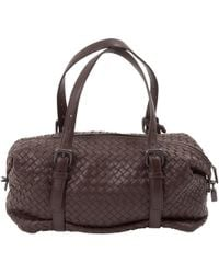 9b86f399bc27 Bottega Veneta Nero Intrecciato Nappa Bag in Brown - Lyst