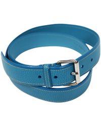 Jil Sander - Pre-owned Green Leather Belts - Lyst