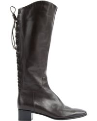 Sergio Rossi - Brown Leather Boots - Lyst