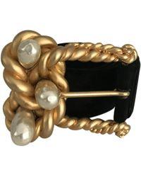 Chanel - Vintage Black Suede Belts - Lyst