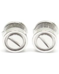 Cartier - Pre-owned Love Silver White Gold Earrings - Lyst