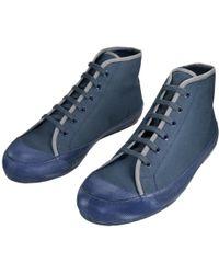 Dries Van Noten - Blue Cloth Trainers - Lyst