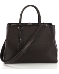 Fendi - Pre-owned 2jours Brown Leather Handbags - Lyst 92bd5ac30ff61