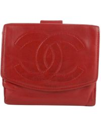 73232083302931 Chanel - Vintage Red Leather Wallets - Lyst