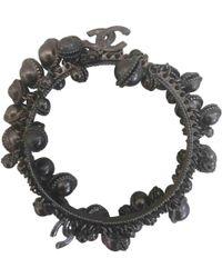 Chanel - Anthracite Metal Bracelets - Lyst