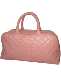 669cfcdf6383 Chanel Pink Leather & Clear Pvc 'cc' Tote Bag in Pink - Lyst