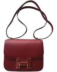 Lyst - Hermès Constance Leather Handbag in Orange b4743f5cd0c1b
