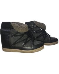 Isabel Marant - Nowles Leather Snow Boots - Lyst