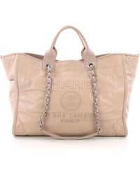 Chanel - Deauville Pink Leather Handbag - Lyst