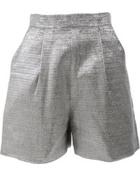 Wes Gordon - Metallic Other Shorts - Lyst