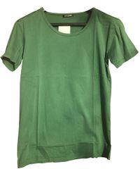 Balmain - Green Cotton T-shirt - Lyst