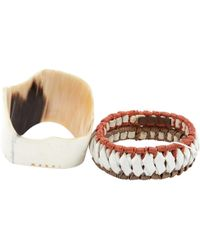 Marni - Multicolour Leather Bracelets - Lyst
