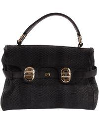 Lancel - Pre-owned L'angèle Black Python Handbags - Lyst