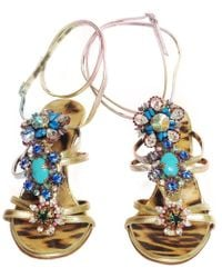 Roberto Cavalli - Pre-owned Multicolour Leather Sandals - Lyst