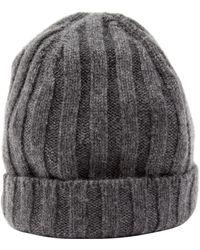 Brunello Cucinelli Grey Cashmere Hats - Gray
