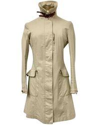 Brunello Cucinelli - Beige Cotton Coat - Lyst