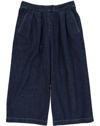 Self-Portrait - Blue Cotton Jeans - Lyst