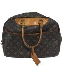 Louis Vuitton - Pre-owned Deauville Cloth Handbag - Lyst
