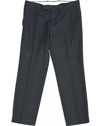 Ferragamo - Wool Trousers - Lyst
