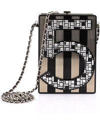 b4ce12b3b6fa Lyst - Chanel Black Plastic Handbag in Black