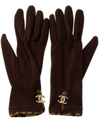 Chanel - Pre-owned Brown Synthetic Gloves - Lyst