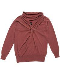 Lanvin - Brown Wool Knitwear - Lyst