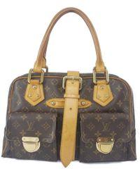 Louis Vuitton - Pre-owned Manhattan Leather Handbag - Lyst