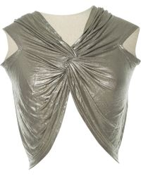 Missoni - Pre-owned Silver Synthetic Tops - Lyst