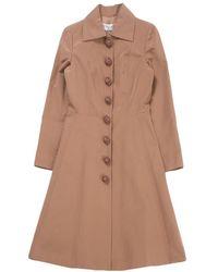 Dior - Brown Silk Coat - Lyst