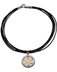 BVLGARI - Tondo Gold Gold And Steel Necklace - Lyst