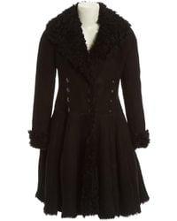 Alaïa - Leather Coat - Lyst