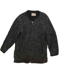 IRO - Grey Wool Coat - Lyst