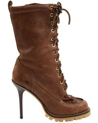 98475a83eda Lyst - Tory Burch Booties - Fulton High Heel in Black