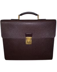 Louis Vuitton - Pre-owned Leather Satchel - Lyst