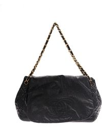 885dc1797 Chanel - Pre-owned Black Patent Leather Handbags - Lyst
