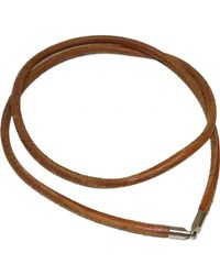 Hermès - Pre-owned Brown Leather Necklaces - Lyst