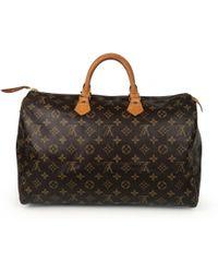 Louis Vuitton - Vintage Speedy Brown Cloth Handbag - Lyst